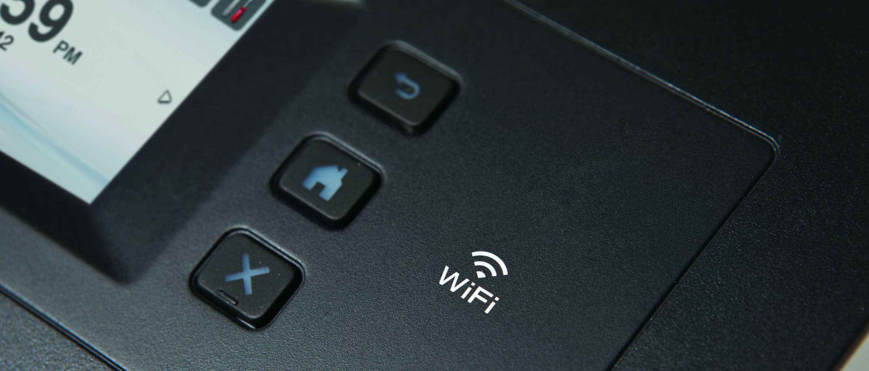 Símbolo de wifi en impresora Brother