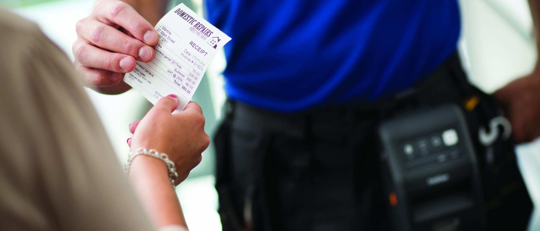 Impresión portátil de ticket