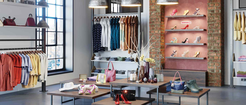 Interior de tienda de ropa