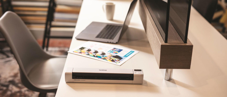 Optimizar el espacio de trabajo con impresoras portátiles PJ Brother