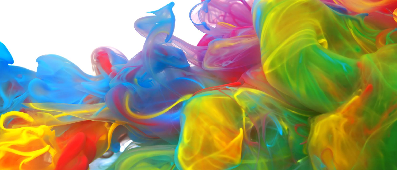 Tintas diluidas de colores