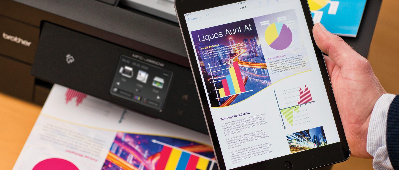 Tablet e impresora multifunción Brother