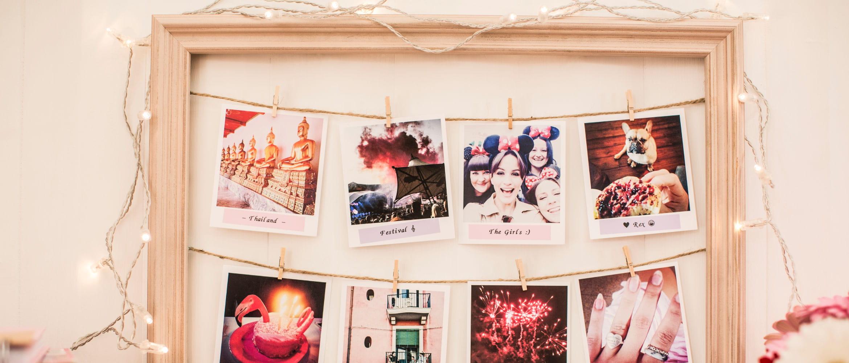 Marco con fotos a color