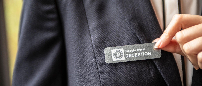 Etiqueta Brother para recepción de hotel