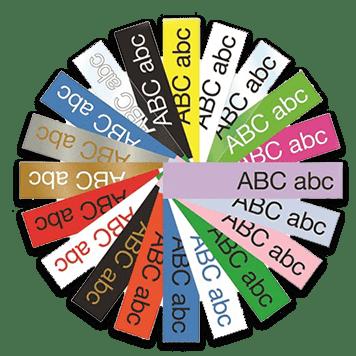 Gama de colorres etiquetas TZe Brother