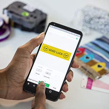 Diseña tus etiquetas desde el móvil