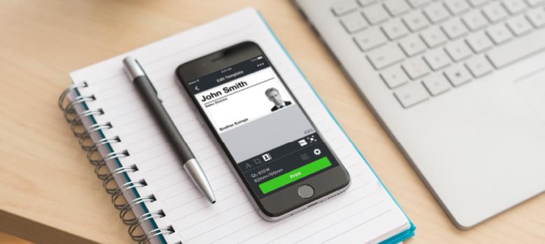 Aplicaciones móviles para impresoras de etiquetas, Brother