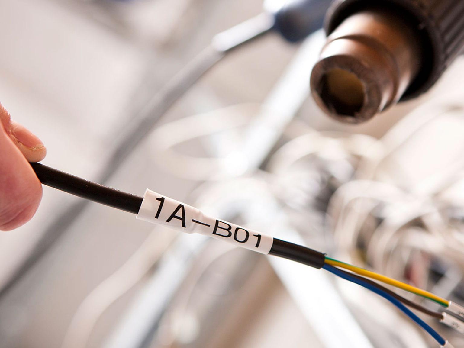 Cinta resistente a altas temperaturas Brother en cable