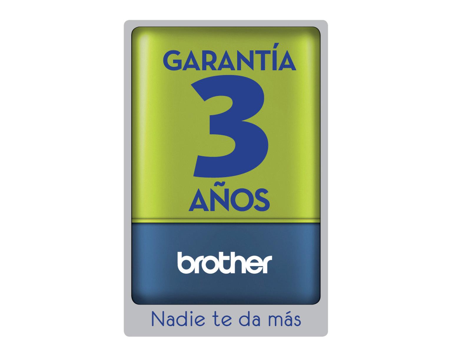 Garantía 3 años Brother. Nadie te da más