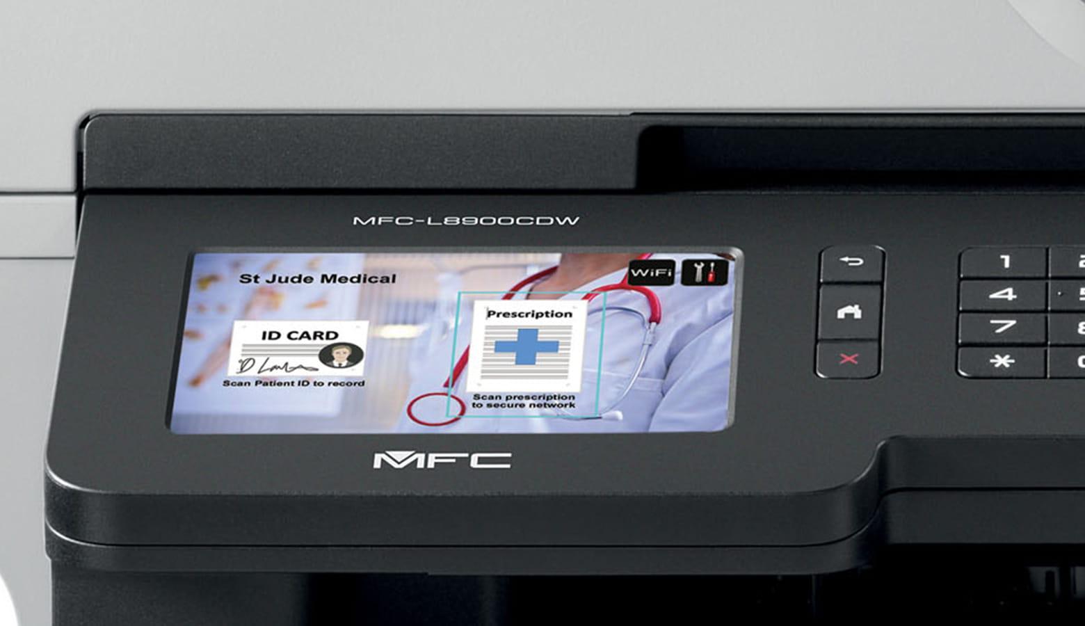 Crear accesos directos en pantalla táctil MFC Brother