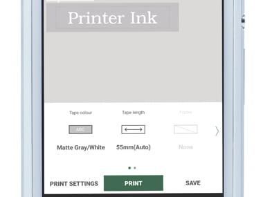 Paso 4 app P-touch Design&Print