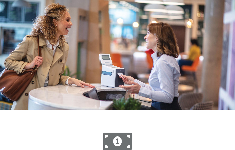 Soluciones de impresión y etiquetado Brother para tickets y recibos en sector retail