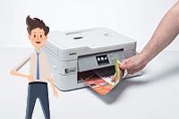 Impresora multifunción tinta MFC-J1300W All in Box