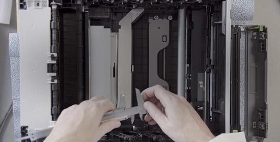 Interior de una impresora