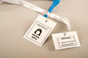 Etiquetas para visitantes