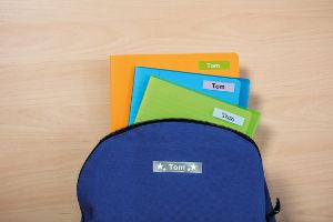 Material escolar etiquetado