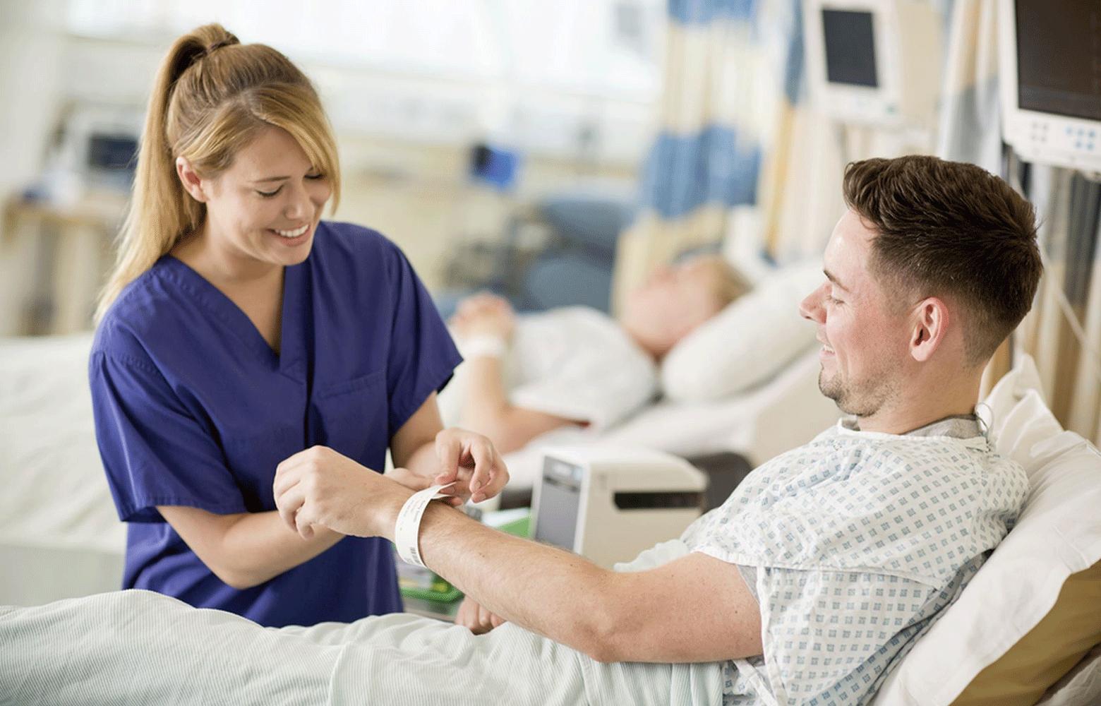 Impresora de etiquetas TD Brother para pulseras de pacientes