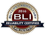 Buyers Laboratory 2016 BLI Reliability Certified Lab Tested