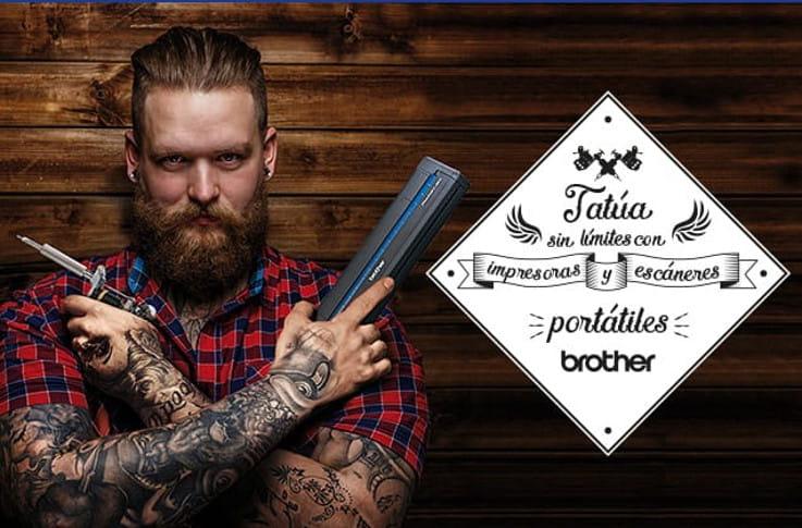 Tatúa sin límites con impresoras y escáneres portátiles Brother