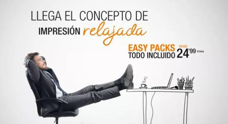 Llega el concepto de impresión relajada. Easy Packs