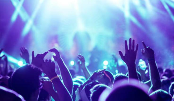 Gente en concierto
