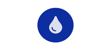 drop grey icon over blue circle