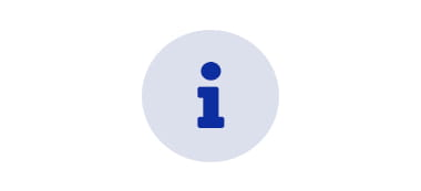support with blue icon on grey background
