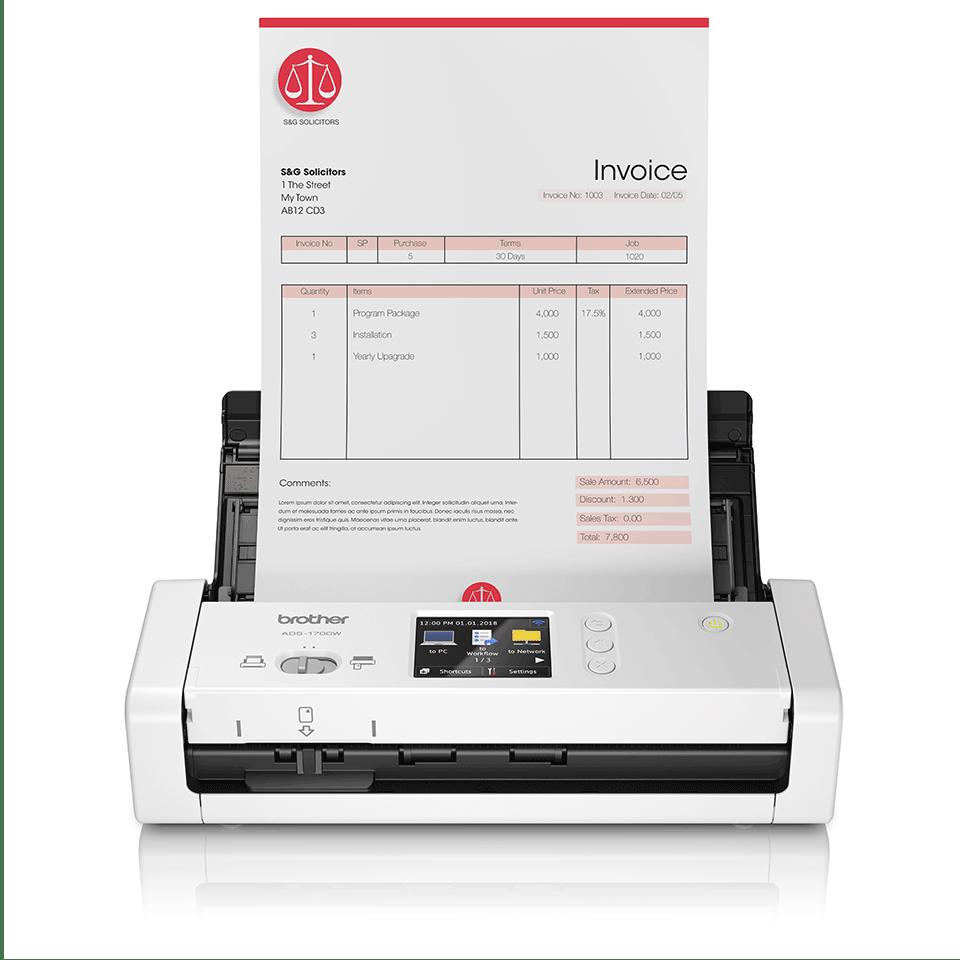 Escáner compacto ADS-1700W Brother