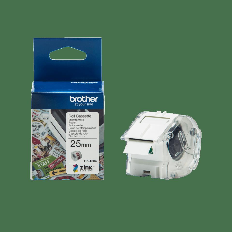Rollo de cinta adhesiva para etiquetas a color CZ1004 Brother