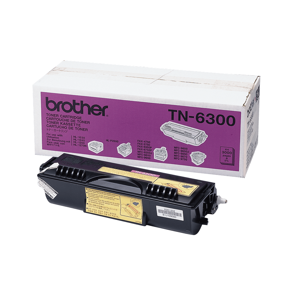 Tóner negro TN6300, Brother