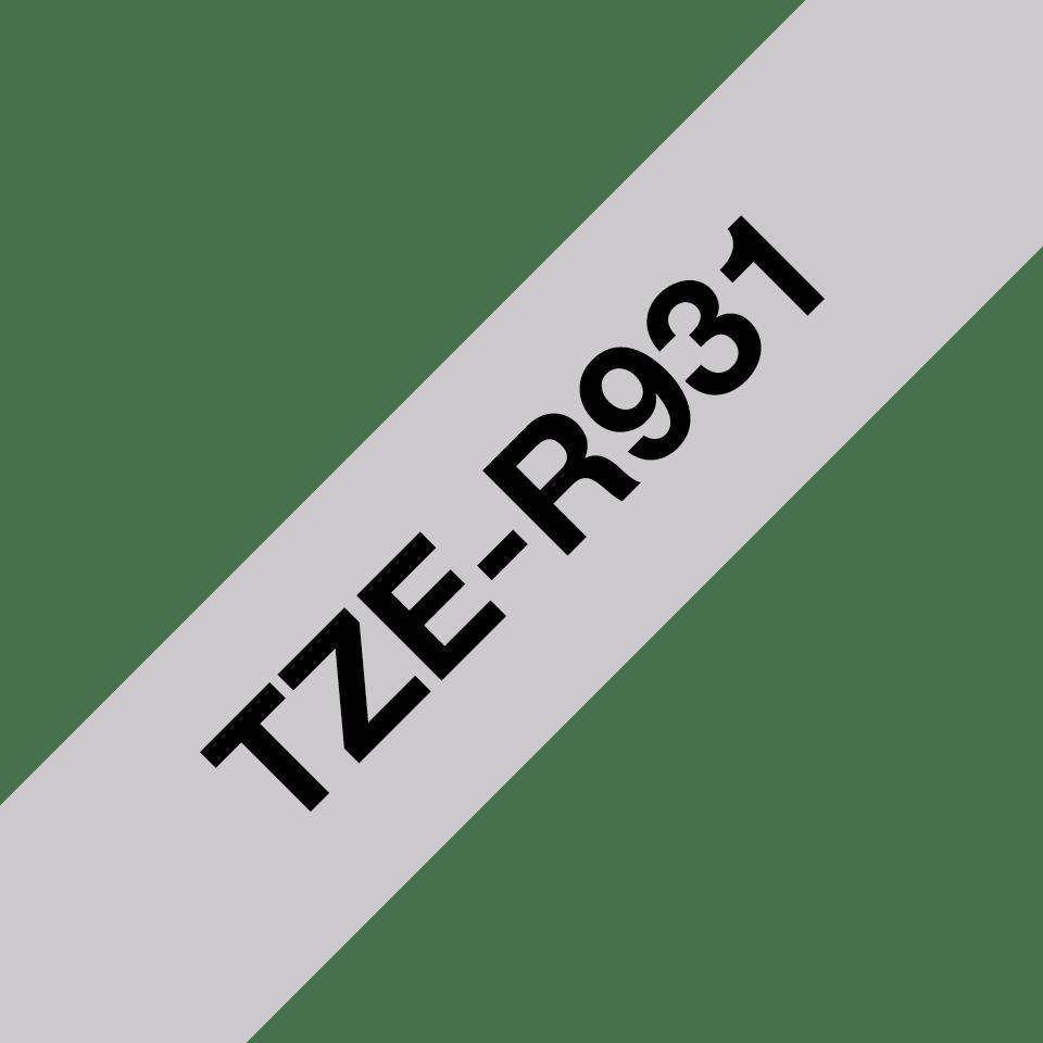 Cinta satinada no adhesiva TZeR931 Brother